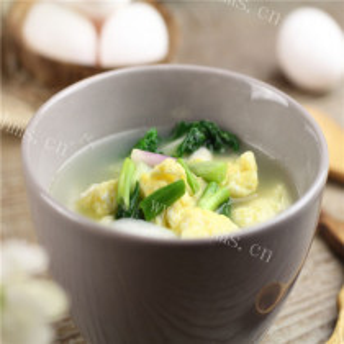 火腿鸭蛋白菜汤