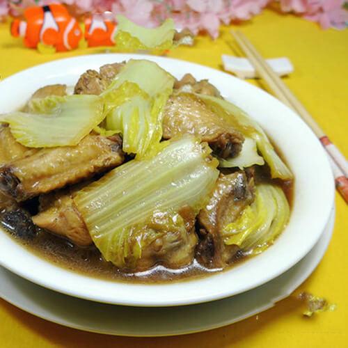 鸡翅丸子烧白菜