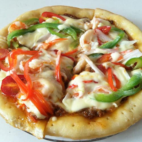 自制披萨(鸡肉肠素菜