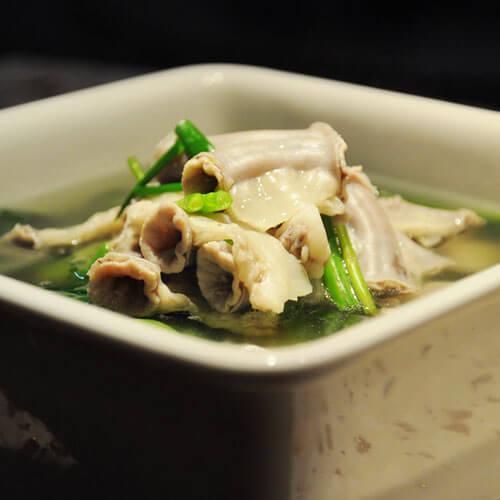 菠菜粉肠汤