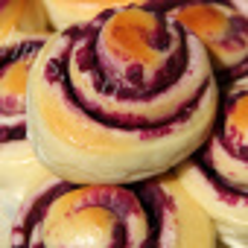 妈妈教我做紫薯面包卷