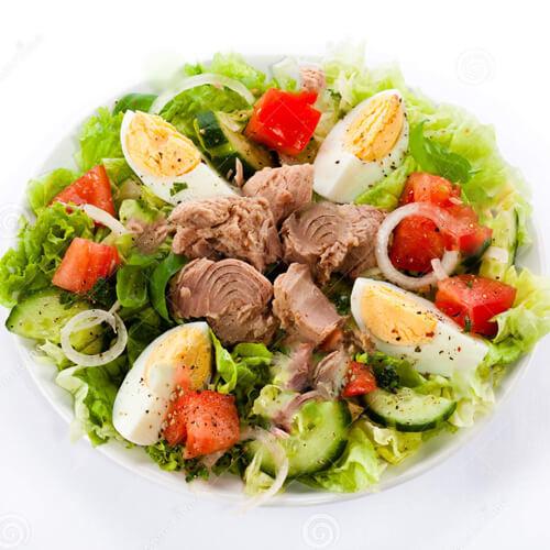 金枪鱼黄秋葵蔬菜沙拉