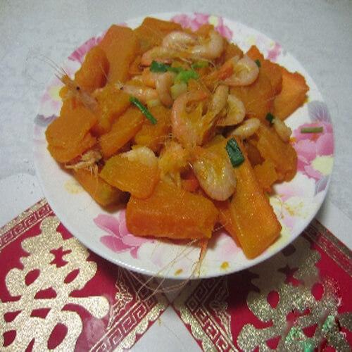 南瓜白米虾