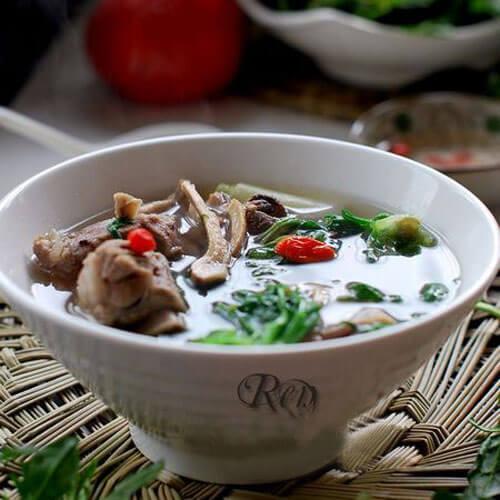 野生荠菜排骨汤