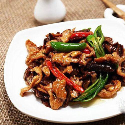 白牛肝菌炒肉片