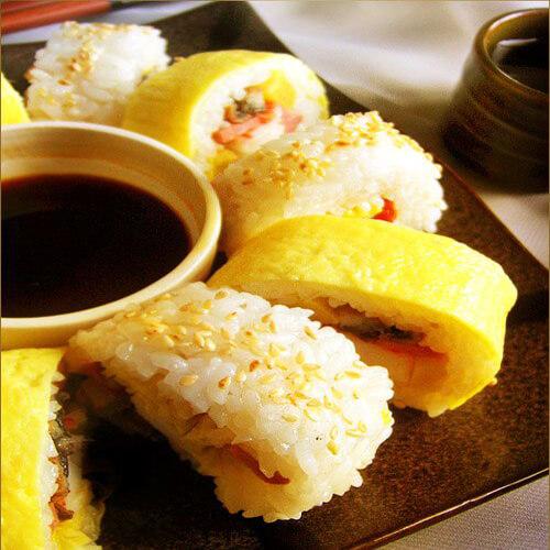 口感好的蛋皮寿司