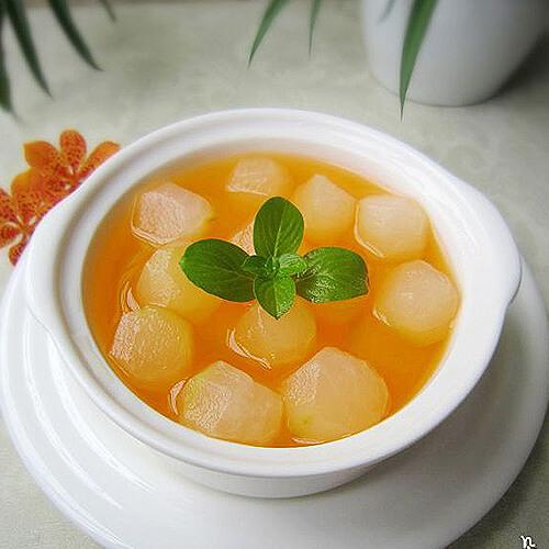 解暑养生菜----冰镇琥珀冬瓜