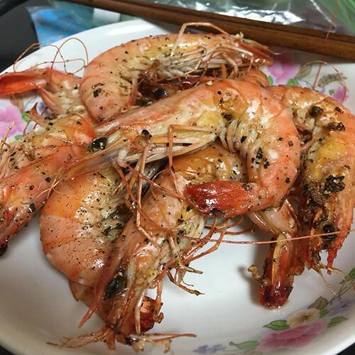 蒜蓉洋葱煎黑虎虾