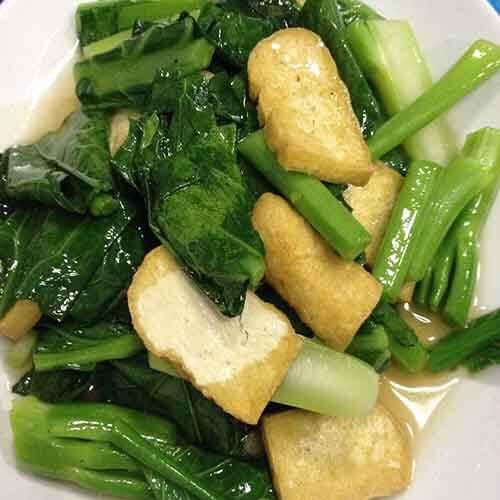 芥蓝炒豆腐