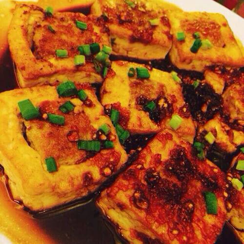 香葱鲜肉酿油豆腐