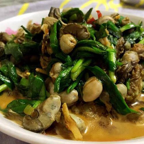 韭菜爆炒牡蛎