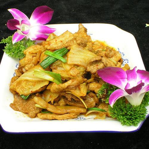 瘦肉片炒圆白菜