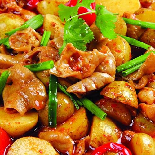 肥肠炖土豆