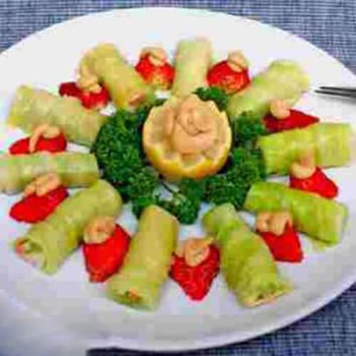 竹笋包菜卷