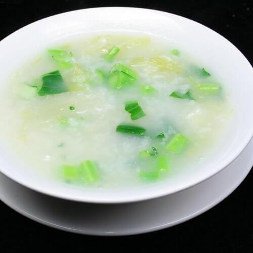 菜叶西米粥