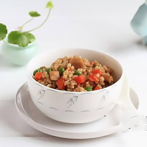 五彩焖糙米饭