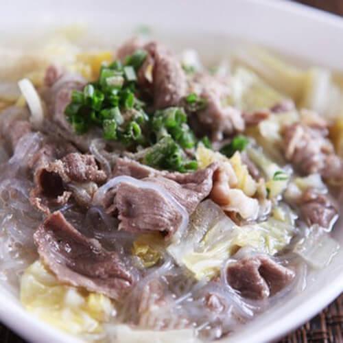 白菜粉丝羊肉汤