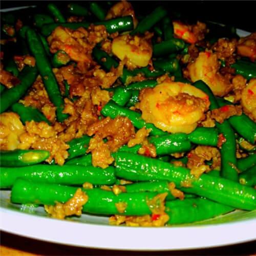 长豇豆炒小河虾