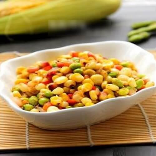 五彩孜然玉米