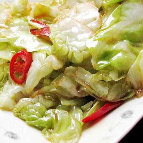 圆白菜炒花卷