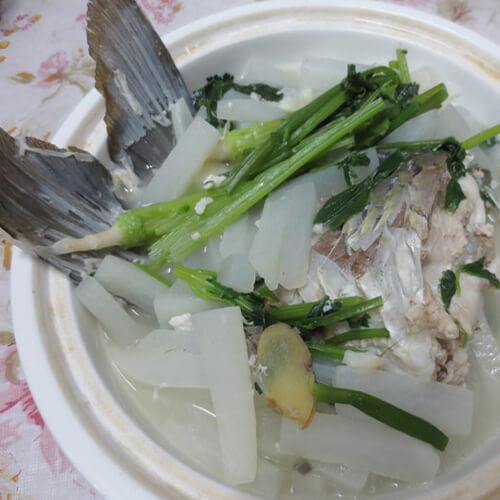 白瓜鲩鱼尾汤