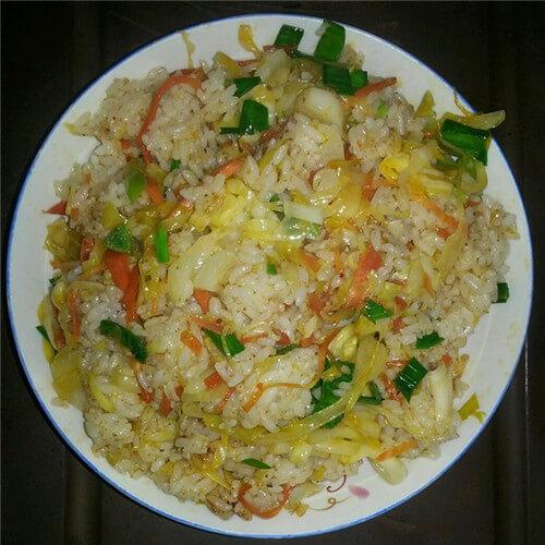 角瓜炒米饭
