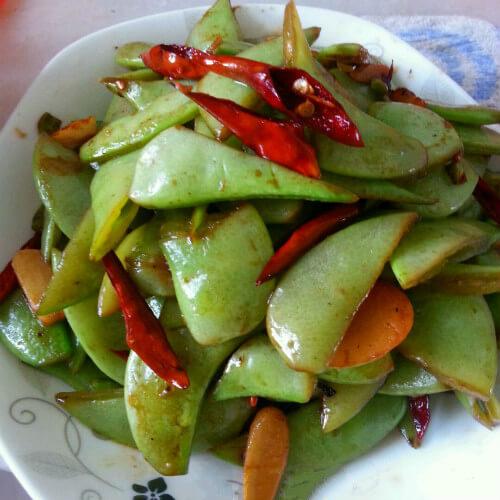 剁辣椒炒扁豆