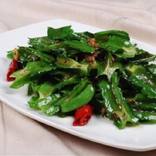 酸菜炒四棱豆