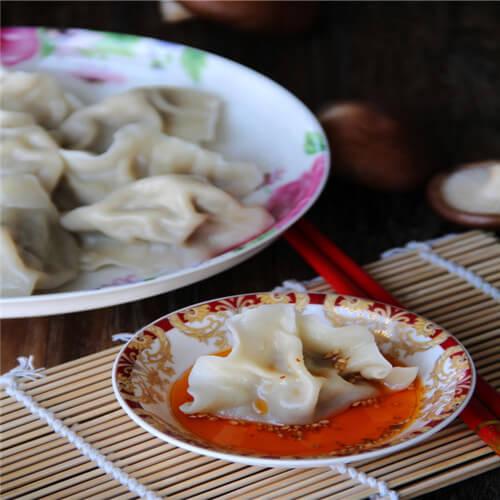 香菇白菜素饺子