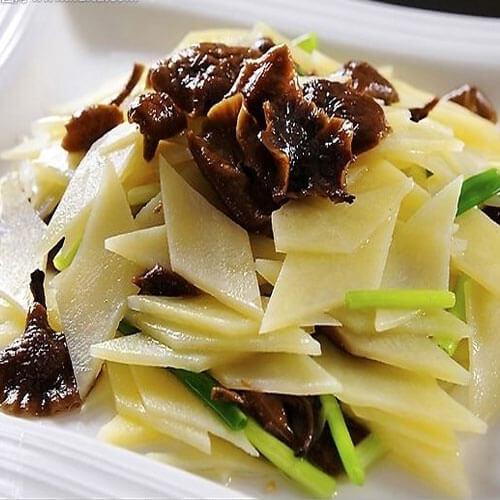 香煎土豆蘑菇