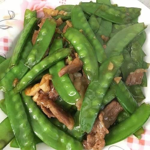 肉片炒荷兰豆