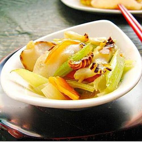 海螺片炒丝瓜