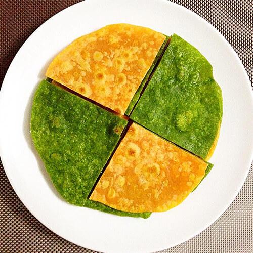 菠菜糯米面饼