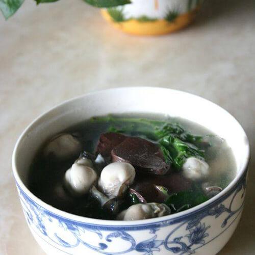 水生枸杞菜猪血汤
