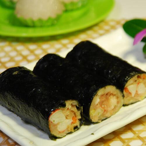 鲜虾紫菜卷
