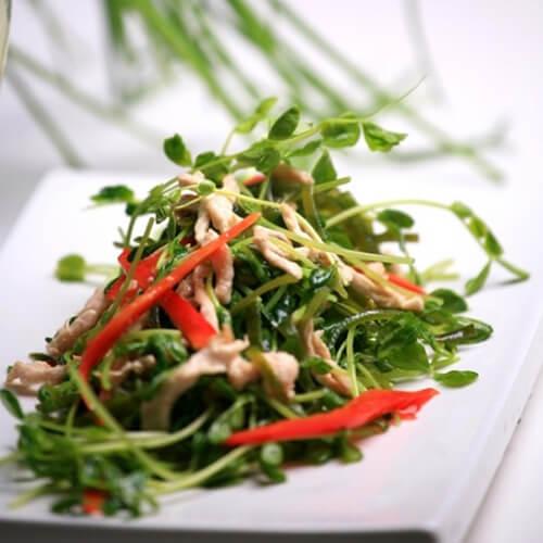豌豆苗海带炒鸡丝