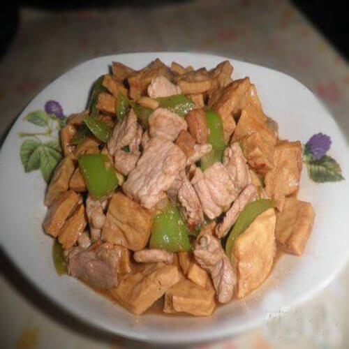 青椒炒脆豆腐