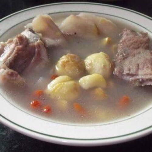 莲藕栗子排骨汤
