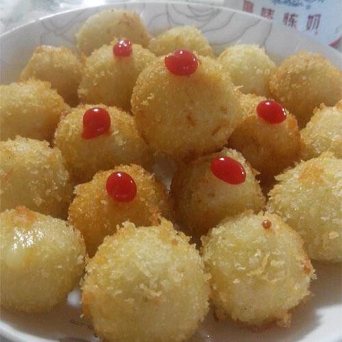 虾仁红薯球