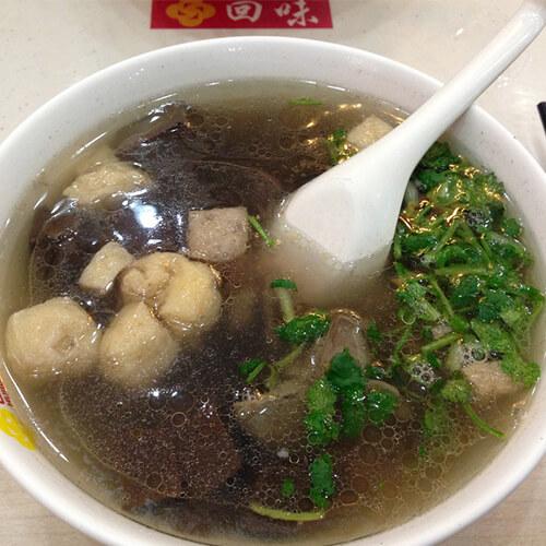 南京鸭血粉丝汤