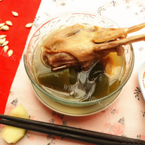 海带绿豆老鸭汤