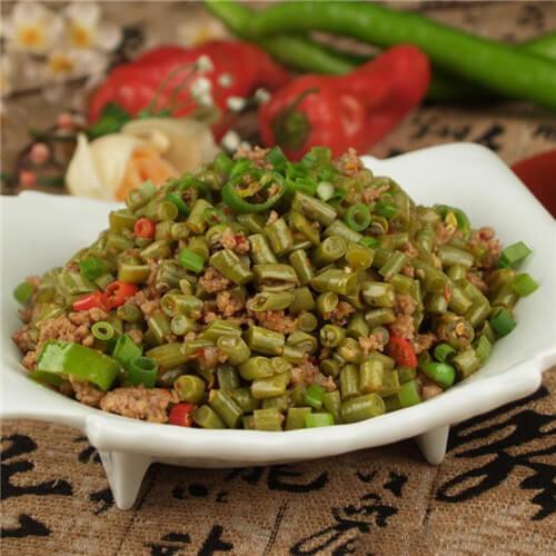 榄菜龙牙豆炒肉末