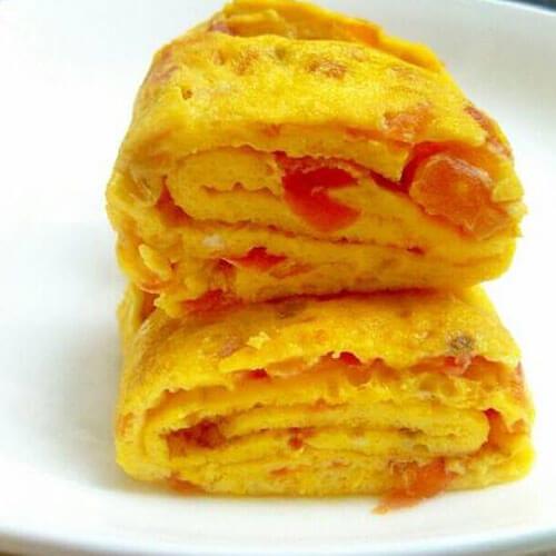 柿子鸡蛋 饼