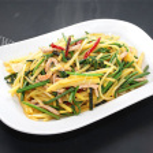 土豆炒蕨菜