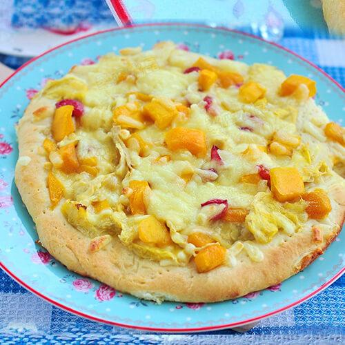 榴芒水果披萨