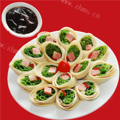 金华火腿蔬菜卷