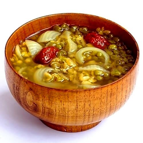 绿豆荔枝粥