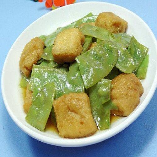 油豆腐炒扁豆