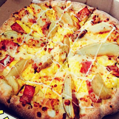 培根鸡蛋披萨
