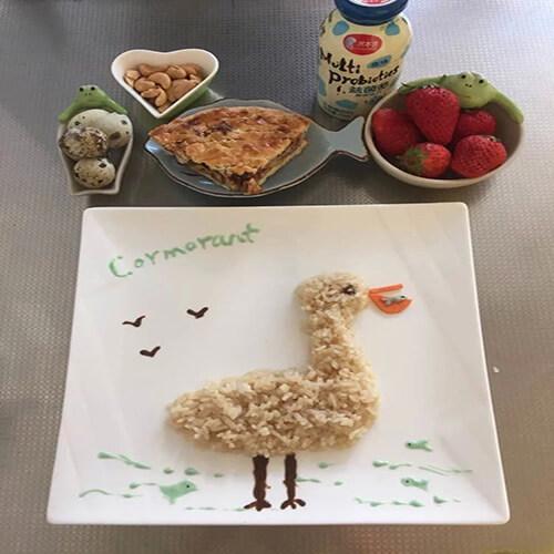 鸟巢爱心早餐